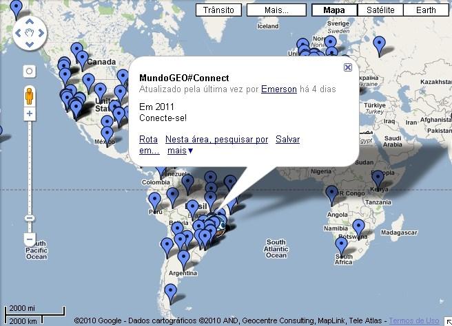 Mapa Eventos Geo