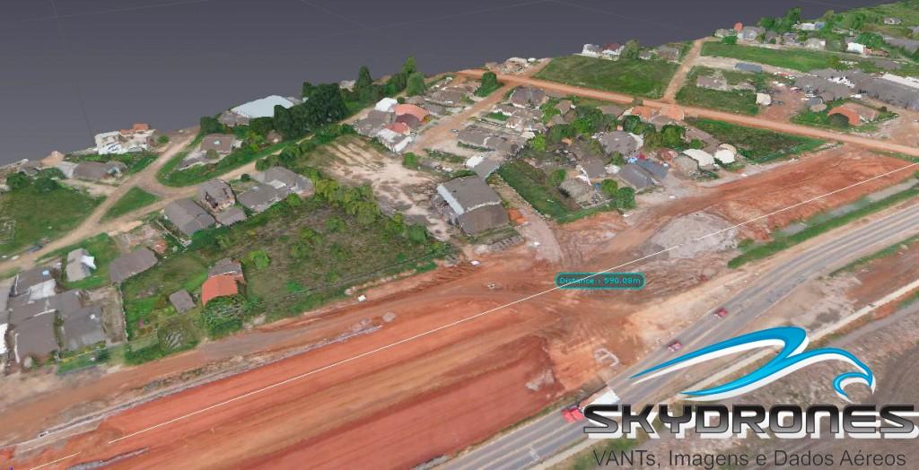 Viaduto Pelotas 3D 1 1024x524 VANTs são utilizados para mapeamento de projetos de estradas