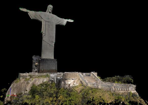 christ the redeemer statue point cloud1 Drone ayuda a elaborar un modelo 3D del Cristo Redentor