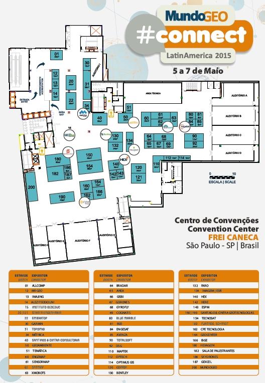 planta connect 2015 final Maior evento de geotecnologias da América Latina acontece na próxima semana em São Paulo