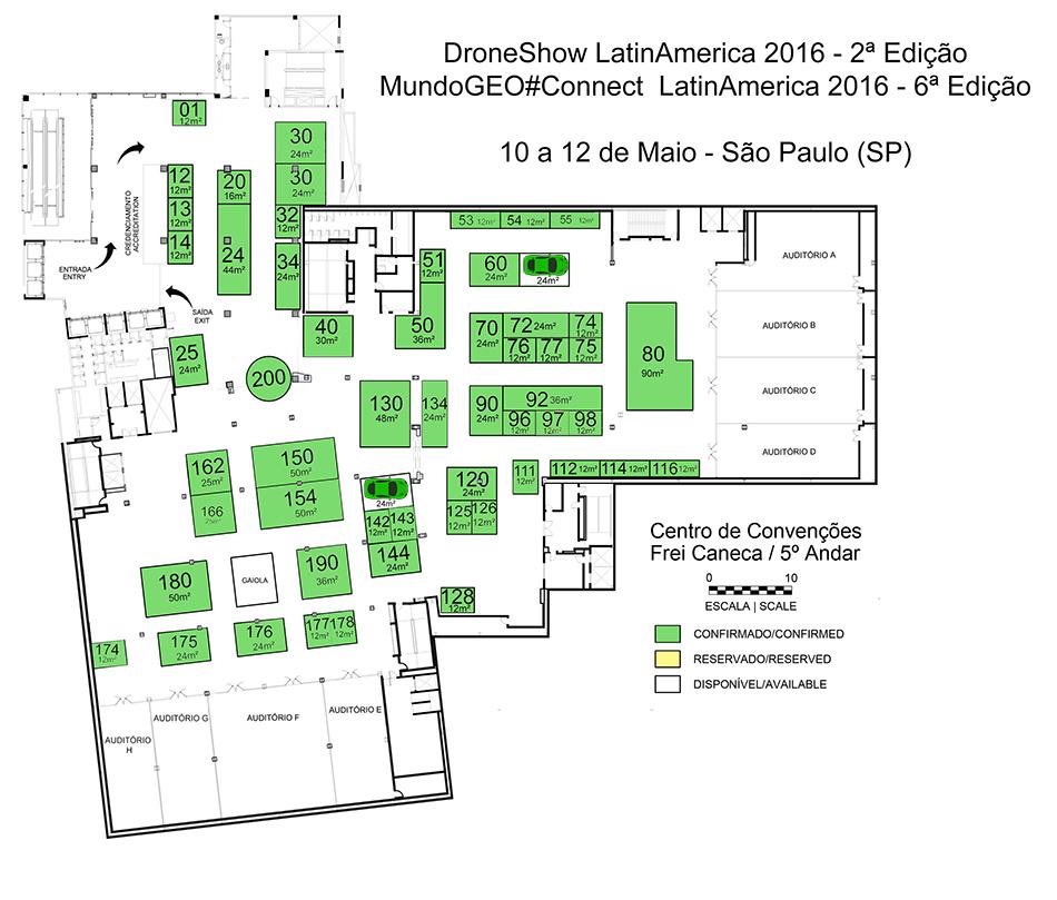 Planta feira DRONE-CONNECT 2016 site
