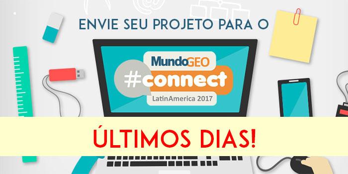 projeto mgeocon700 3502 Últimos dias para enviar trabalhos para Seminários, Evento Acadêmico e Prêmio MundoGEO#Connect