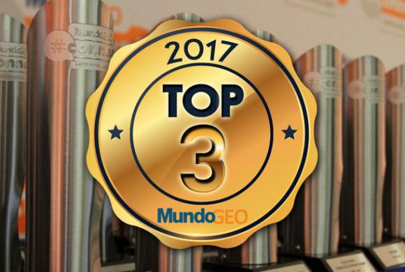Confira os TOP 3 do Prêmio MundoGEO#Connect 2017