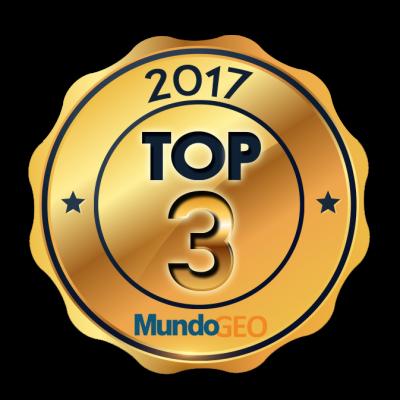 top3 mundogeo 400x400 Confira quem ficou no TOP 3 do Prêmio MundoGEO#Connect 2017, o Oscar da Geotecnologia