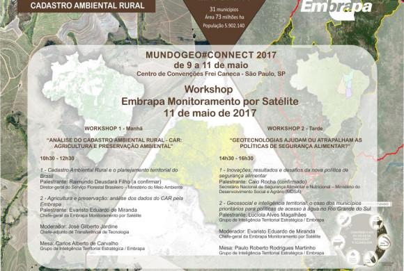 Participe do Workshop Embrapa Monitoramento por Satélite