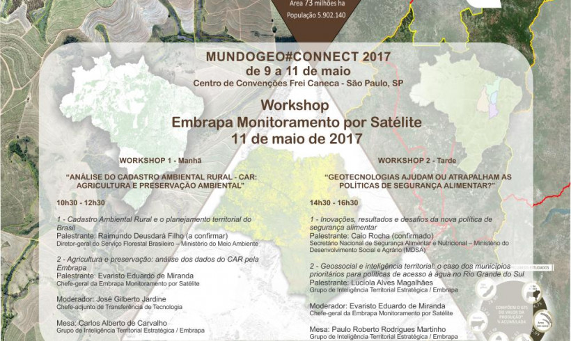Participe do Workshop Embrapa Monitoramento por Satélite