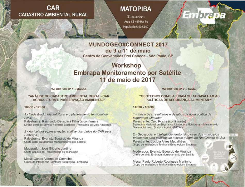 workshop embrapa1 950x727 Participe do Workshop Embrapa Monitoramento por Satélite no MundoGEO#Connect