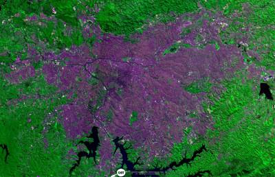 Grande São Paulo - imagem CBERS - OBT INPE