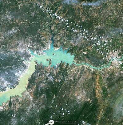 Imagem do satélite sino-brasileiro CBERS-4A de parte do reservatório de Sobradinho