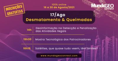 Destaques e replay do segundo dia do MundoGEO Connect 2021: Satélites e suas aplicações